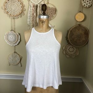 Free people ribbed cropped racer back tank top XS